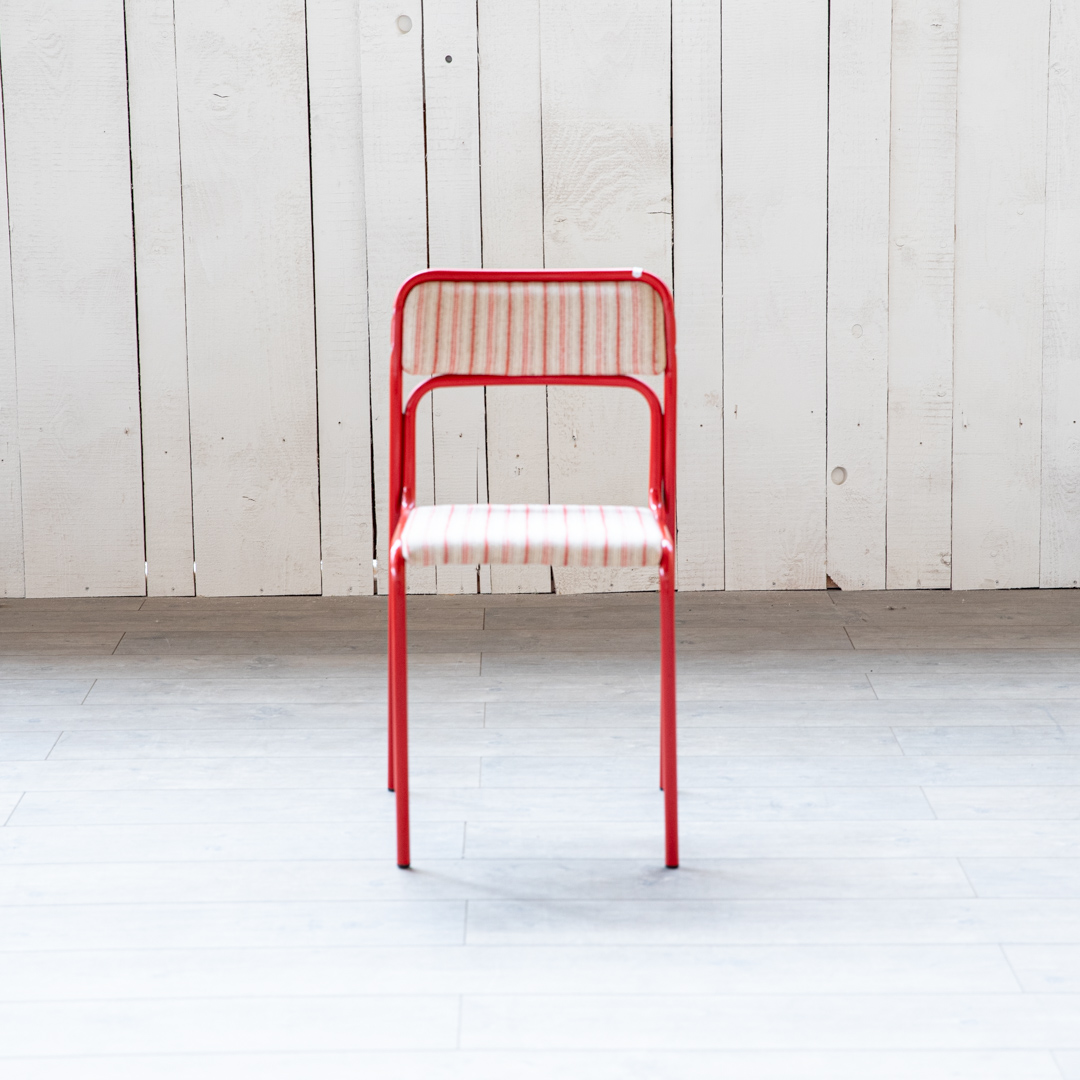 4 Metallstühle rot Vintage